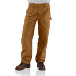 Carhartt Men�s Double-Front Work Dungaree/Washed Duck B136